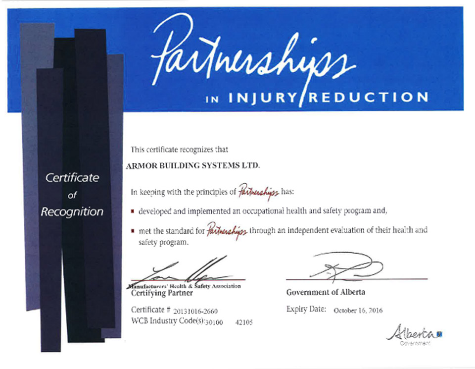 Partnerships in Injury Reduction – Certificate of Recognition